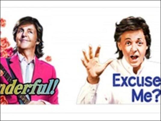 LINE lanza stickers con la voz de Paul McCartney