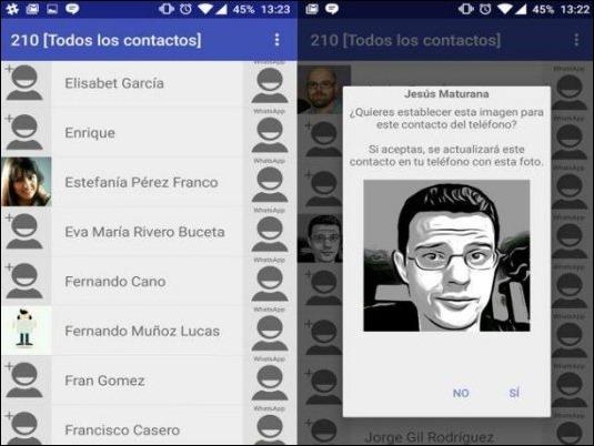 ¿Cómo sincronizar fotos del WhatsApp con contactos de teléfono?