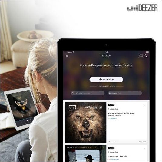 Deezer responde a Apple renovando su app para iPad y Mac