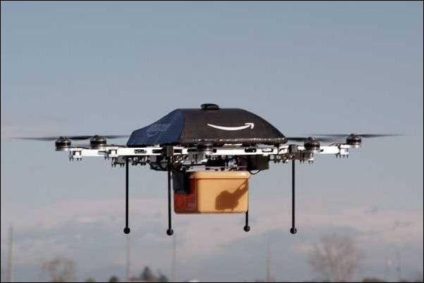Amazon asegura que sus drones podrán entregar productos en media hora