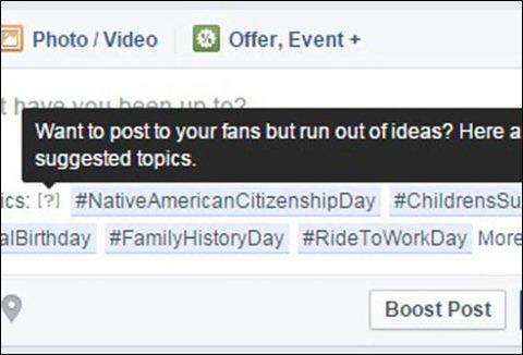 Facebook ahora te recomienda qué escribir