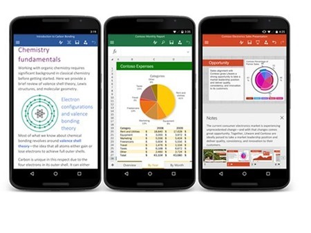 Las Apps de Office llegan a los smartphones Android