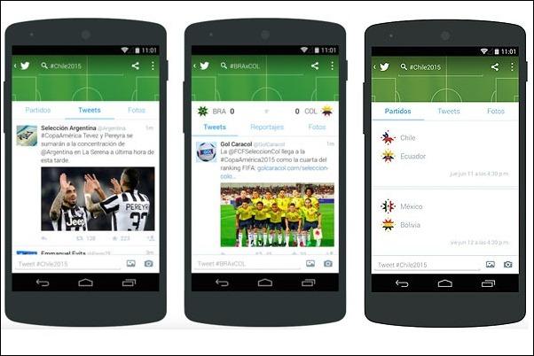 Twitter lanza herramientas para seguir la Copa América desde el móvil