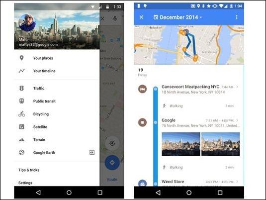 """""""Your TimeLine"""", la herramienta de Google que recuerda todos los trayectos del usuario"""