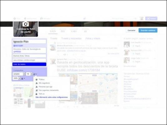 Twitter, cada vez más parecido a Facebook: agregó la fecha de cumpleaños a los perfiles