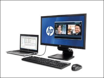 Base de HP convierte portátiles en PCs de sobremesa