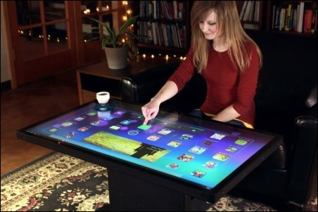 Coffee Table, mesa con pantalla de 46 pulgadas y Android