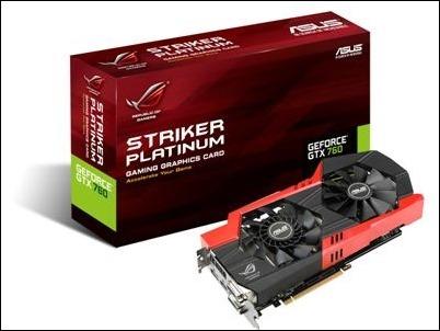 Tarjeta gráfica para gaming Striker GTX 760 Platinum de ASUS Republic of Gamers