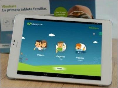 """""""WeShare"""", el tablet familiar de Telefónica."""