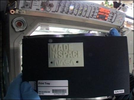 Realizan la primera impresión 3D en el espacio
