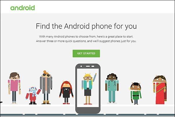 Google lanza portal para ayudar a elegir el teléfono Android adecuado
