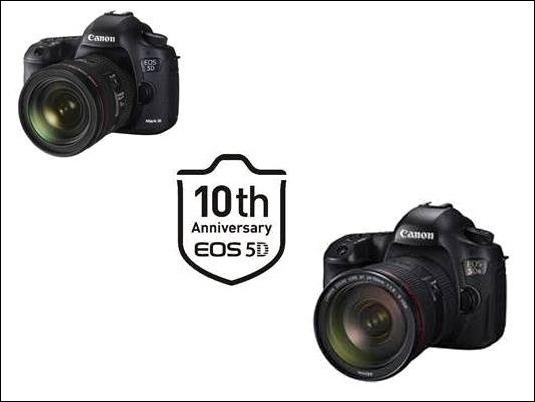 Canon celebra el X aniversario de la serie EOS 5D