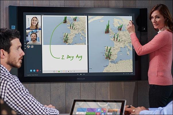 """Microsoft anuncia una versión """"gigante"""" de su tableta Surface con tamaño de hasta 85"""""""