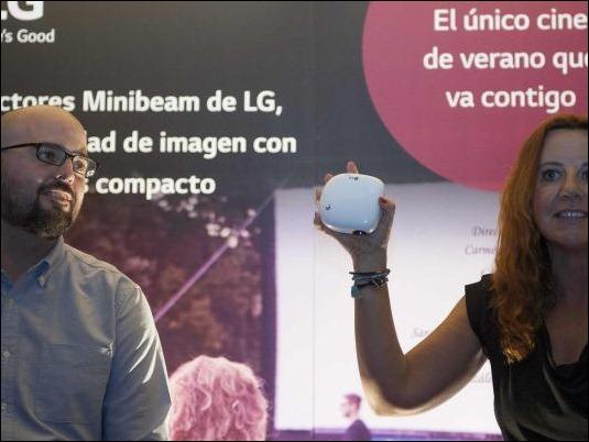 LG actualiza su oferta de Proyectores portátiles Minibeam