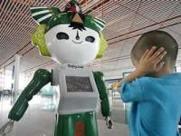 Los robots olímpicos del aeropuerto de Pekin